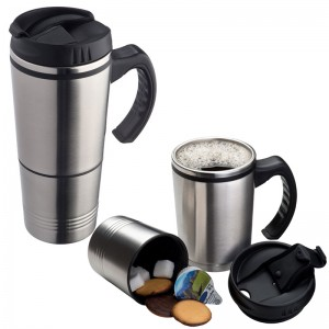 2-in-1 metal thermal mug 'hadley'